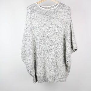 Lou & Grey Sweater Poncho Kangaroo Pocket Medium